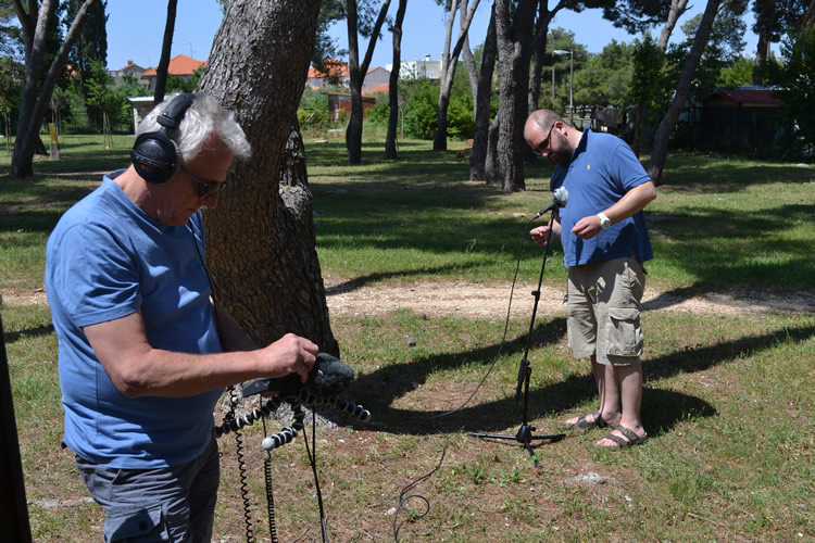 Setting up for the environmental recording - Ambient audio recording